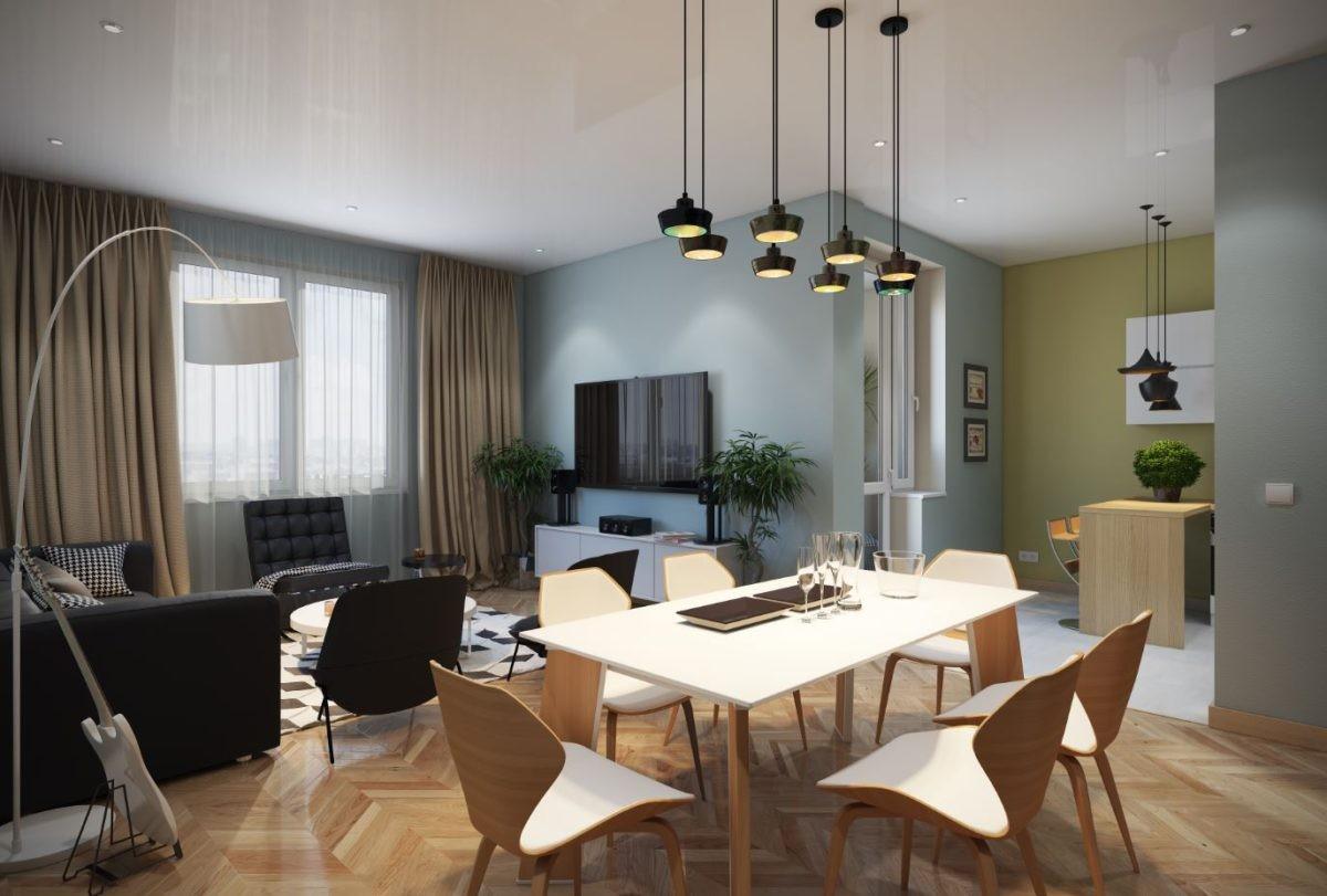 5 двухкомнатных квартир в скандинавском стиле
