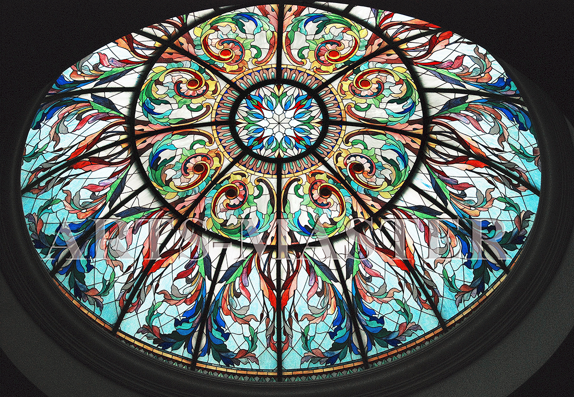 Сферическая форма купола требует высокого качества подгонки деталей для четкого совпадения тончайшей графики орнамента. Для купола предусмотрена подсветка, что позволяет ему выполнять роль основного светильника в интерьере.