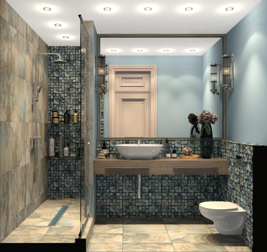 20 красивых ванных комнат с душевыми кабинами