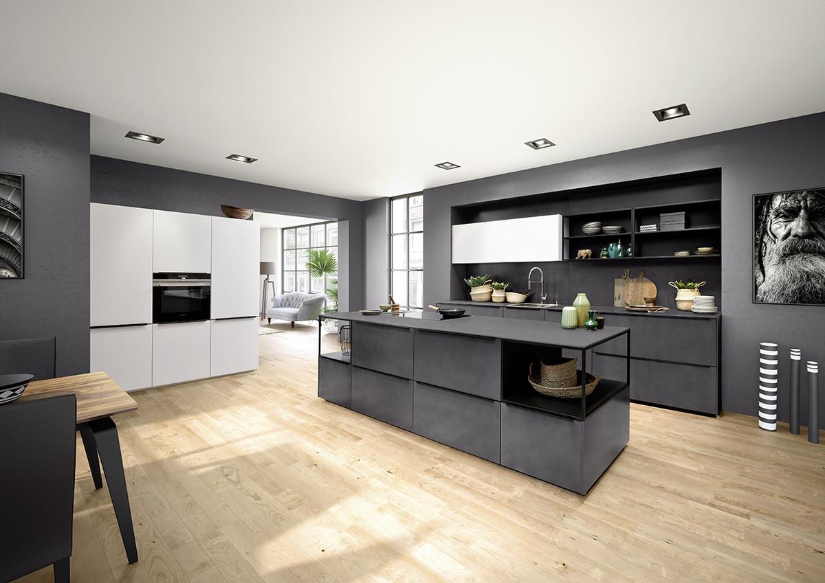 Кухня/столовая в  цветах:   Бежевый, Серый, Фиолетовый.  Кухня/столовая в  стиле:   Минимализм.