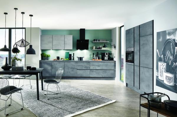 Кухня/столовая в  цветах:   Бирюзовый, Красный, Оранжевый, Фиолетовый.  Кухня/столовая в  стиле:   Лофт.