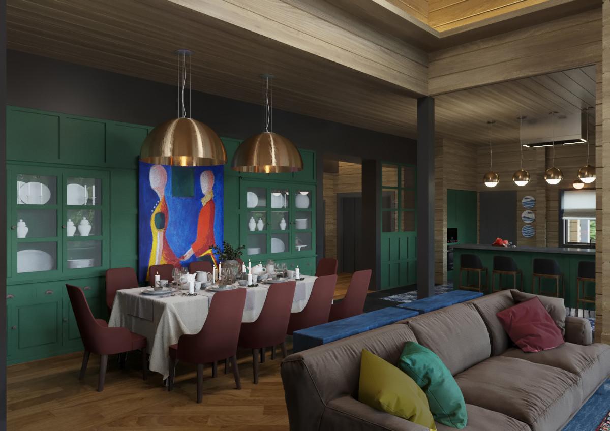 Дизайн дома: яркие оттенки, семейный интерьер