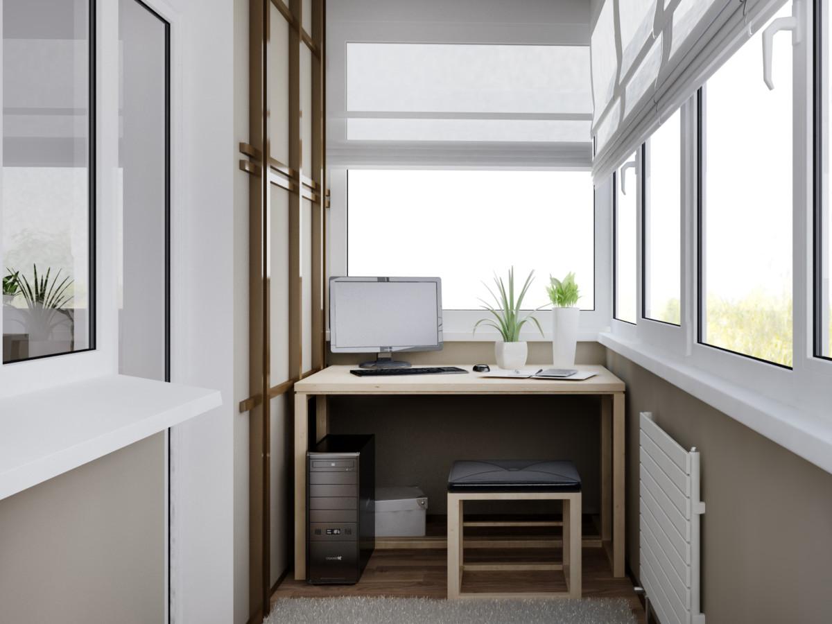 Балкон с кабинетом: 8 практичных идей из Instagram