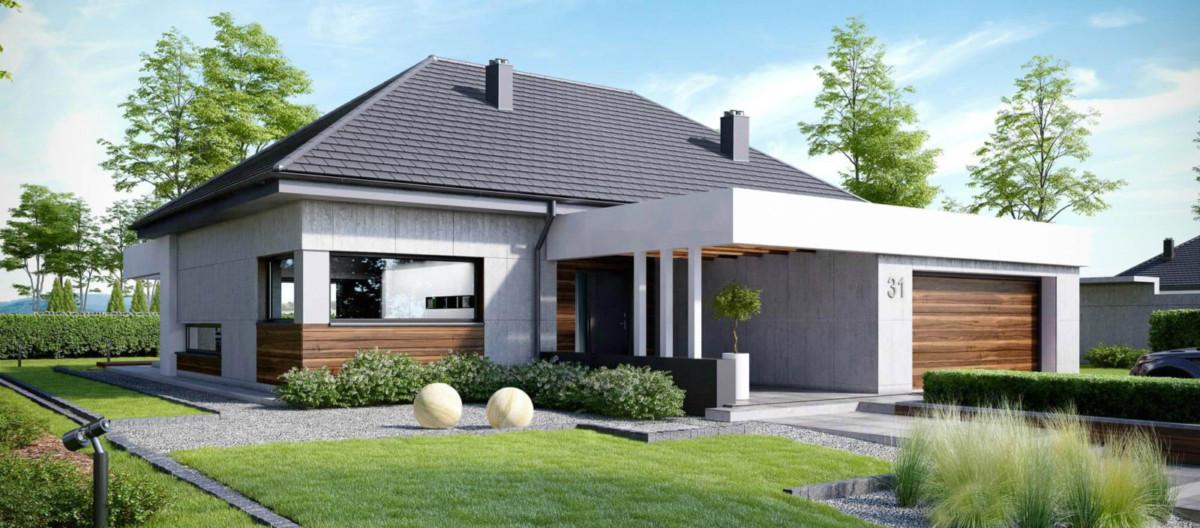 Современный проект одноэтажного дома за 8 млн рублей