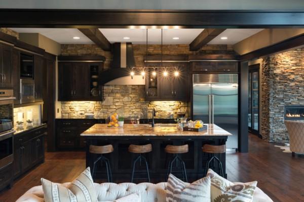 Кухня/столовая в  цветах:   Бежевый, Бирюзовый, Темно-коричневый.  Кухня/столовая в  .