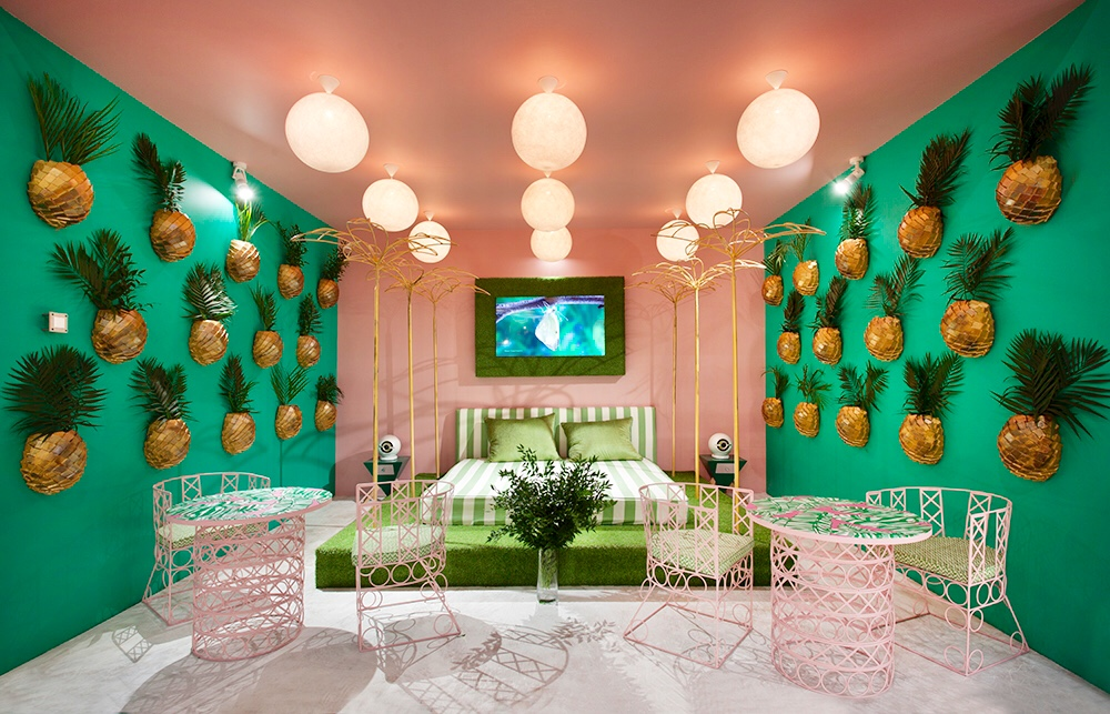 Тропический шик и яркие краски в дизайне интерьера в 2018 году