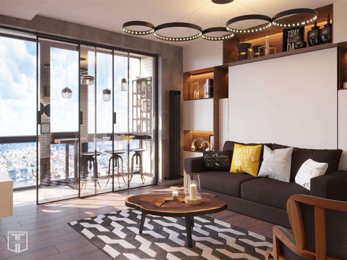 Дизайн однокомнатной квартиры площадью 38 метров