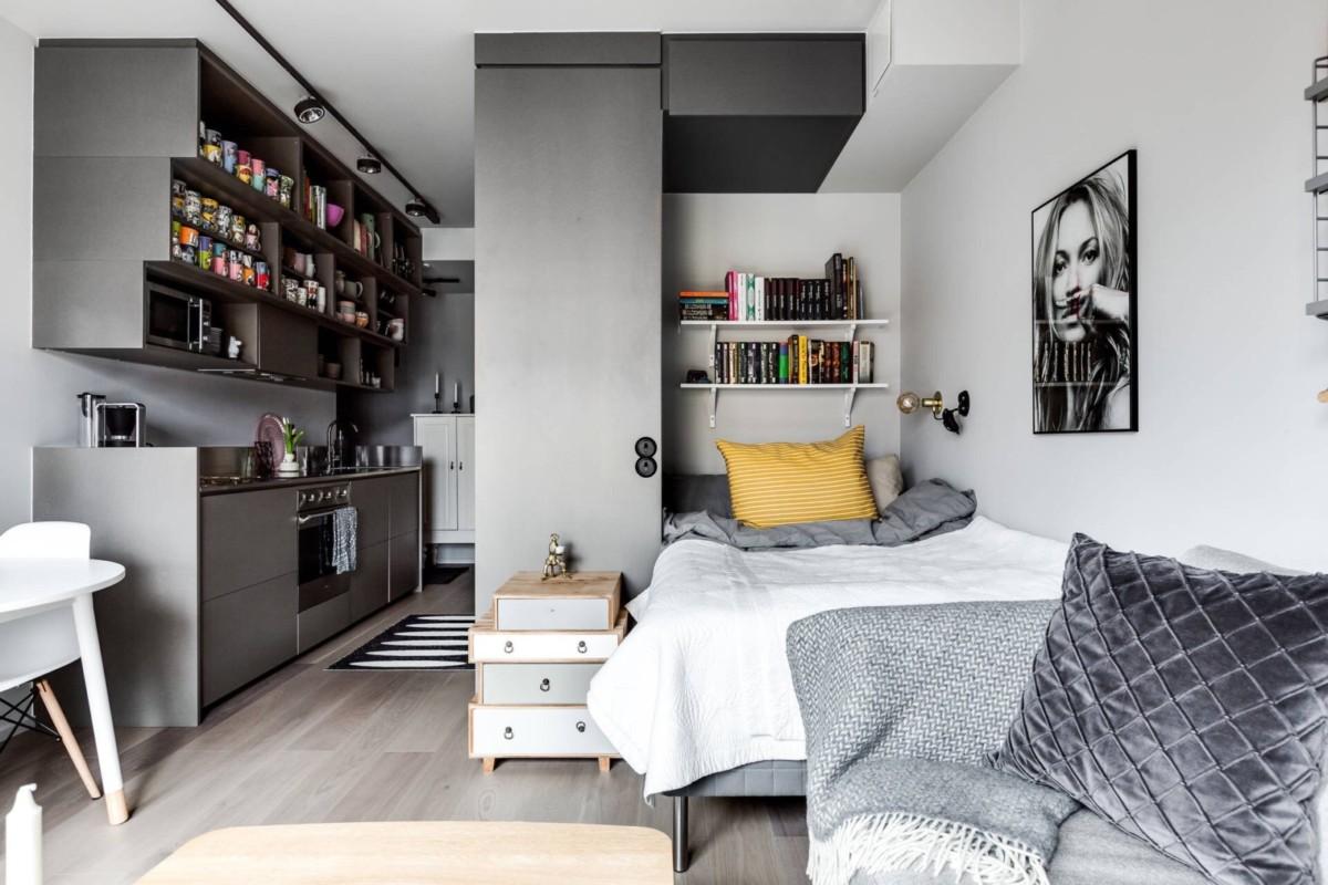 Интерьер и дизайн квартиры площадью 26 метров