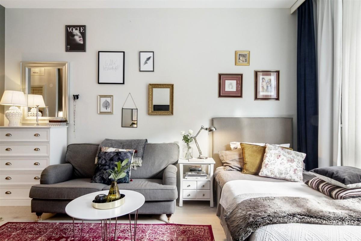 Дизайн квартиры площадью 29 метров в скандинавском стиле