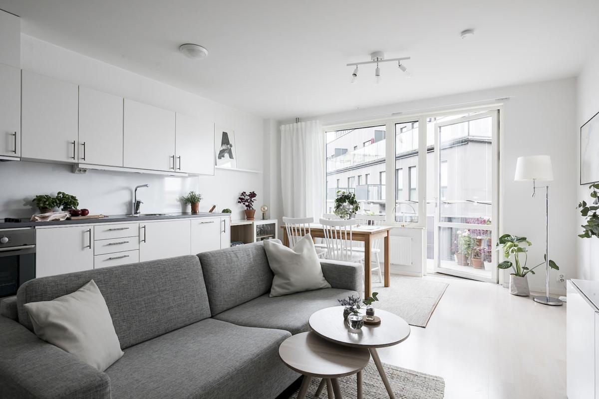 Дизайн интерьера двухкомнатной квартиры площадью 39 метров