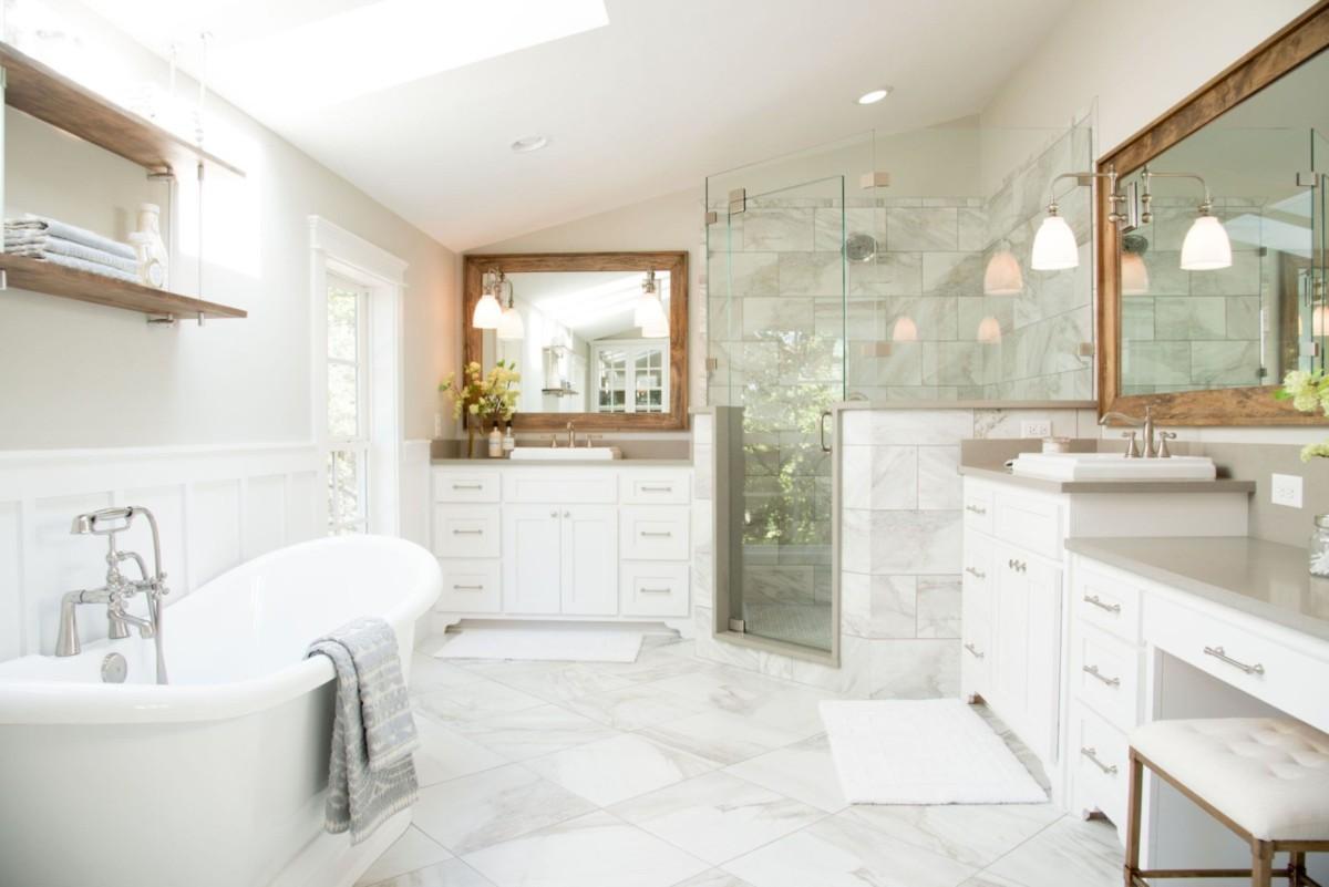 Ванная комната в стиле неоклассика: 6 правил оформления