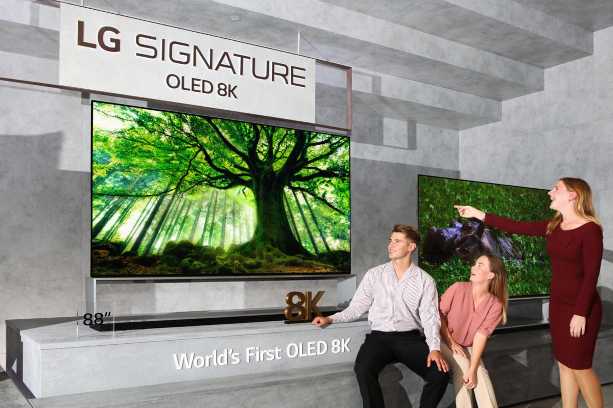Новые телевизоры LG с разрешением 8К выходят на мировой рынок