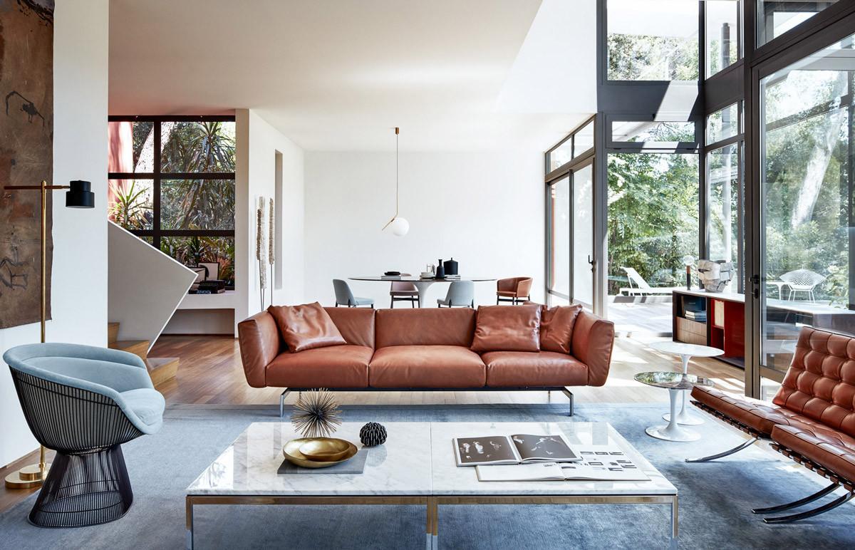 Кожаная мебель возвращается: 6 способов применения