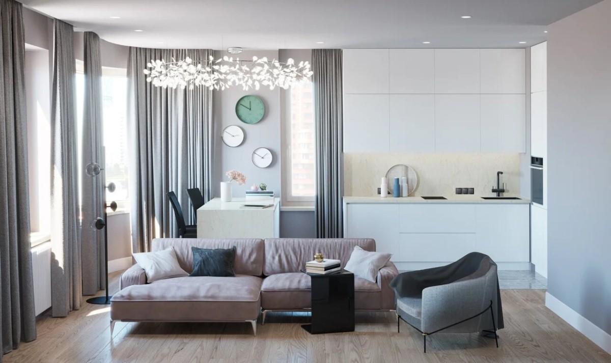 Люксовый интерьер квартиры-студии в миланском стиле