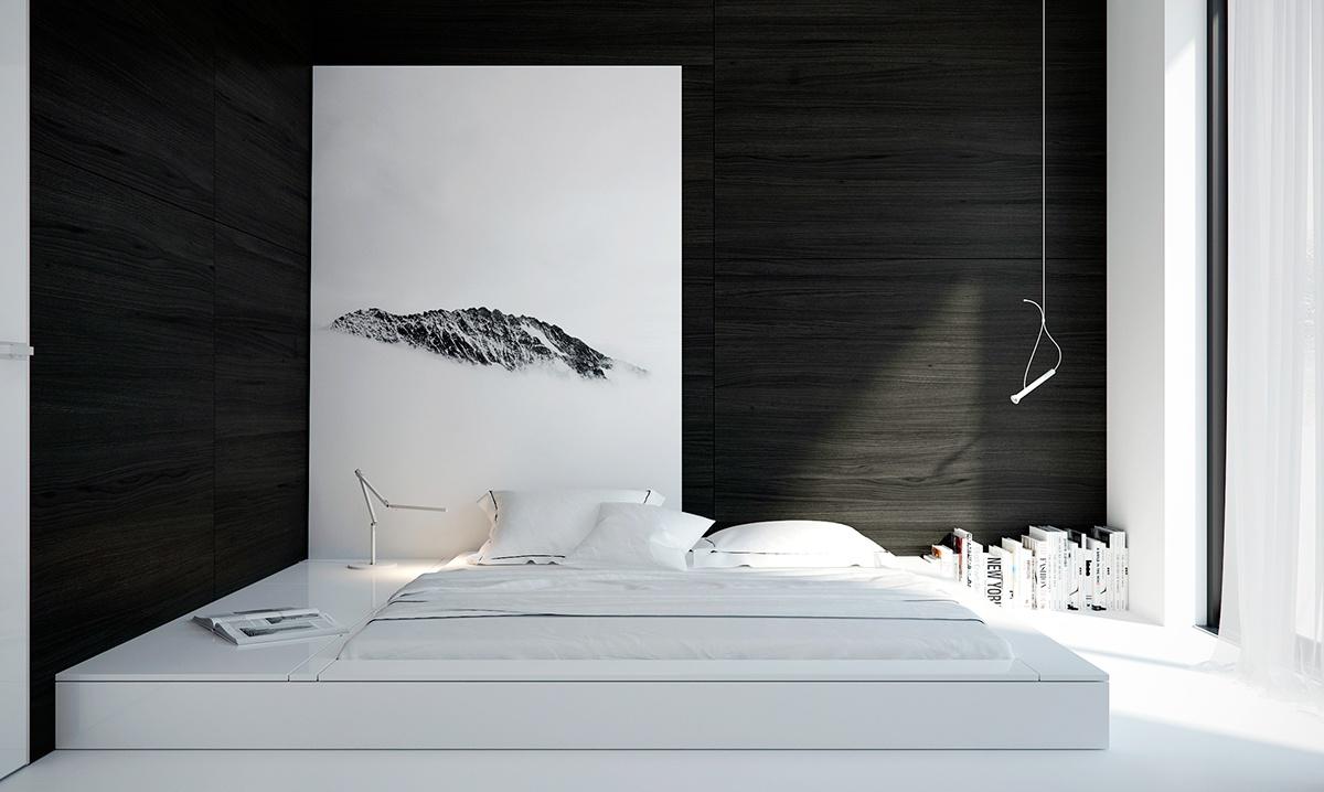 12 причин выбрать черно-белую спальню